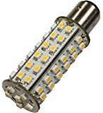 Brightech - SuperBright Ba15s LED Light Bulb Replacement - Cool White Color - 2nd Generation with 66 LED's - Single Contact Base - 10-30V DC - Brighten up your yard or RV!