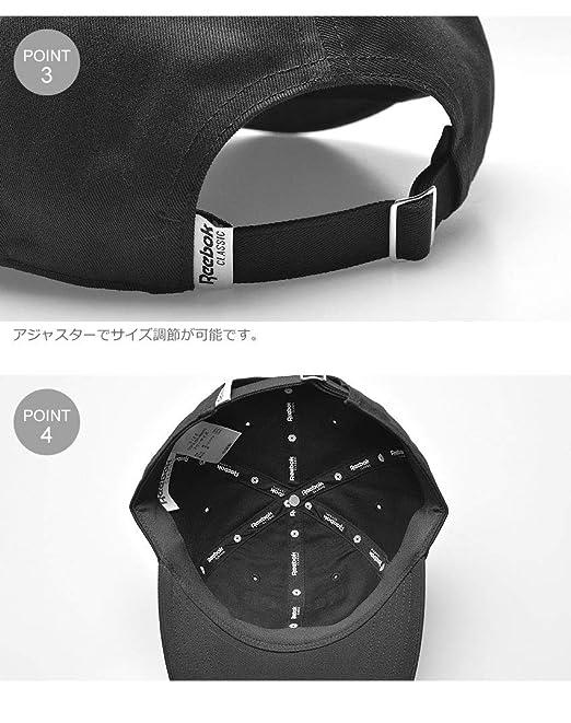 e566c18e12b Amazon   [リーボック] 帽子 LF ベクター ロゴ キャップ DU7519 DU7520 メンズ レディース 01.ブラック フリー    キャップ 通販