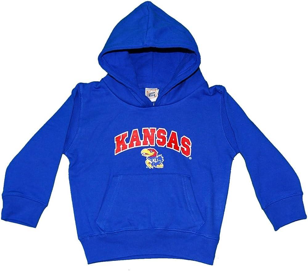 Royal Youth Medium NCAA Kansas Jayhawks Hooded Fleece Top