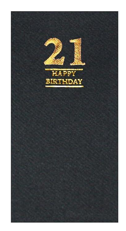 Servilletas de lujo con diseño de cumpleaños, 40 x 40 cm, 20 ...
