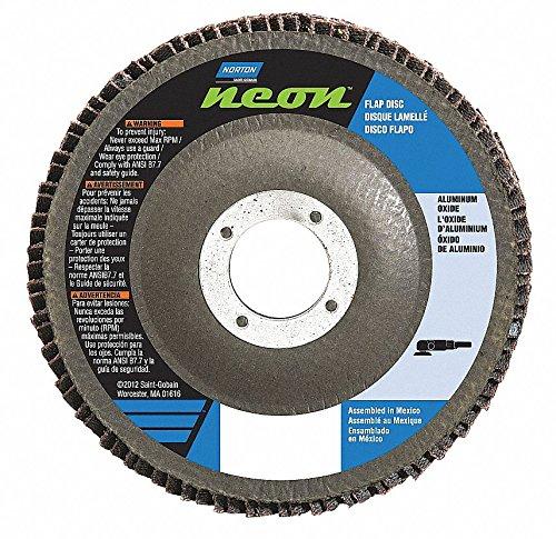 4 1//2 in x 120 Grit 7//8 Norton Flap Disc