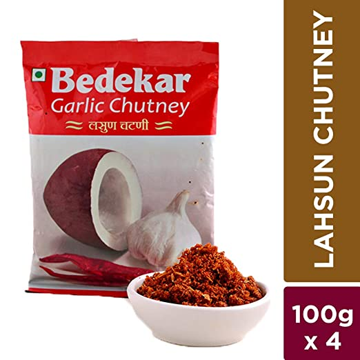 Bedekar Lahsun Chutney - 400gm (Set of 4 * 100gm)