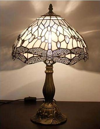 1 luz Lámpara de mesa Tiffany Style 12 pulgadas pantalla de vitral ...