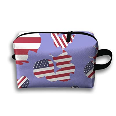 Funny Squirrel Flag Travel Toiletry Bags Travelmall 85%OFF