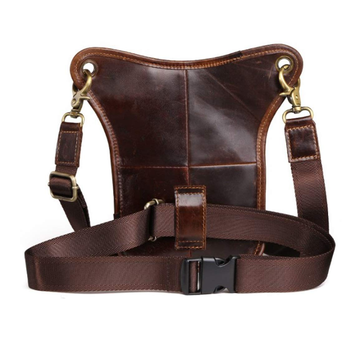 Color : Oil Wax Brown RABILTY Bulk Capacity Crazy Horse Leather Waist Bag Crossbody Fanny Pack Organizer,24164 Cowhide Travel Money Belt RFID Blocking