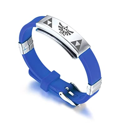 Amazon.com: MP Hombre Acero Inoxidable Silicona Pulsera de ...