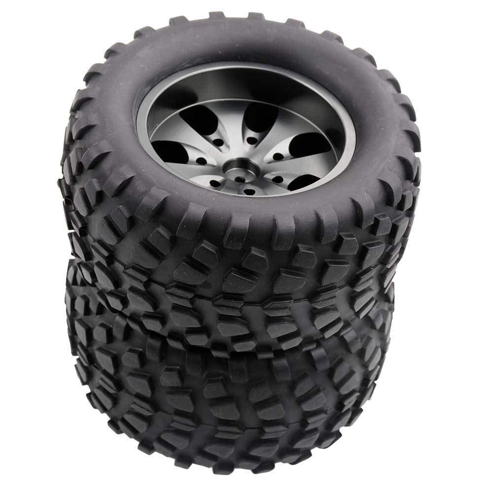 Toyoutdoorparts RC 08008N Alum Gray Wheel&08043 Tires for RedCat 1/10 Nitro Volcano S30 Truck by Toyoutdoorparts (Image #2)