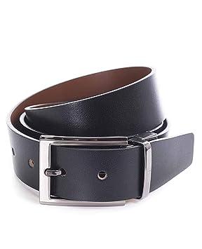 Miguel Bellido Cinturón clásico Reversible Piel Negro/Marrón 110cm 0.05Kg: Amazon.es: Equipaje