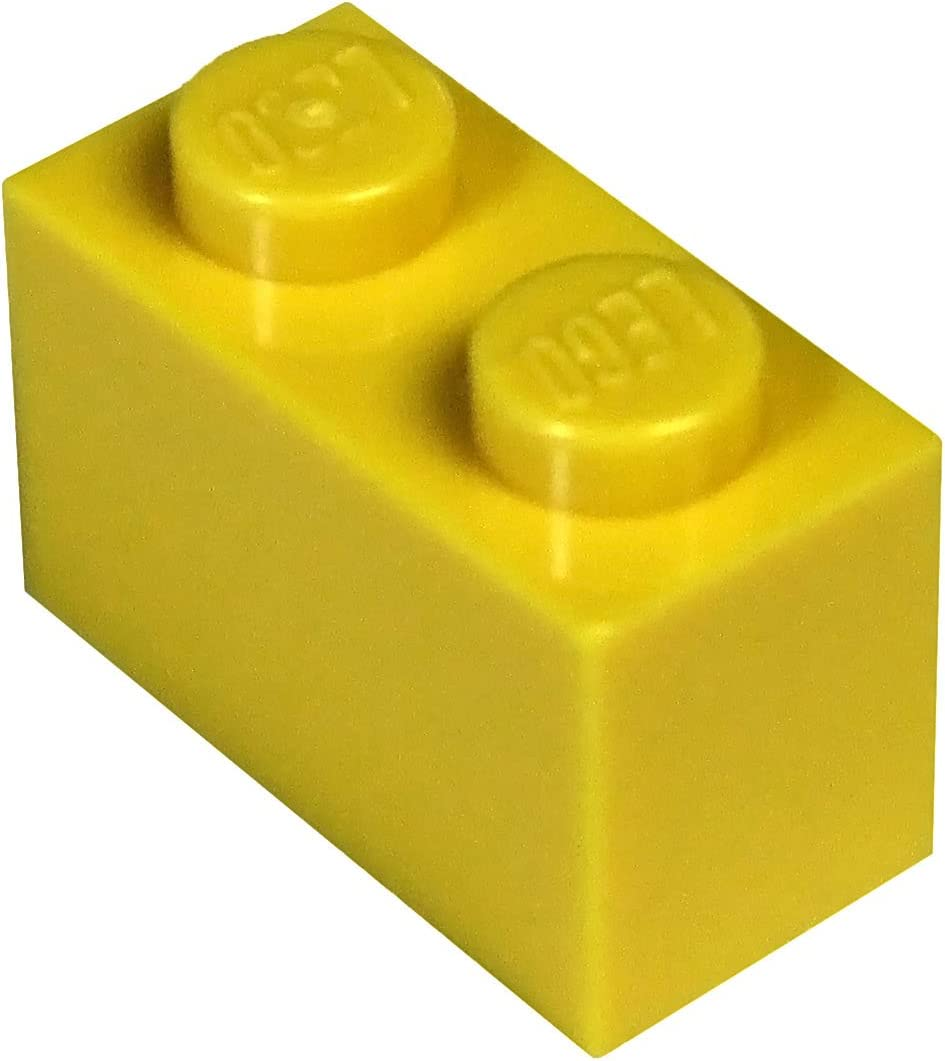 LEGO Parts and Pieces: Yellow (Bright Yellow) 1x2 Brick x20