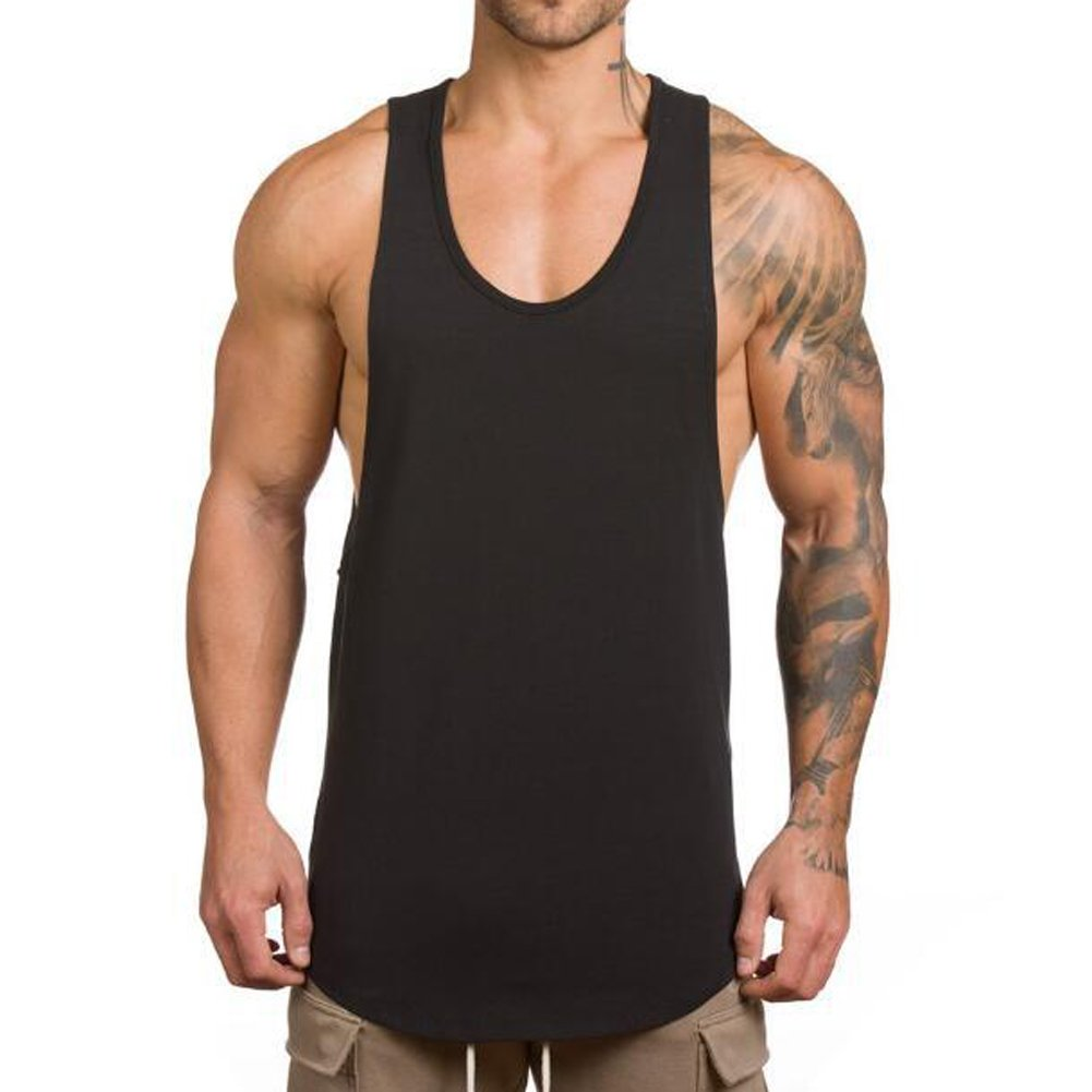 9c994a02 Magiftbox Men's Muscle Gym Workout Stringer Tank Tops Bodybuilding Fitness T -Shirts: Amazon.ca: Clothing & Accessories