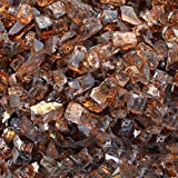 Stanbroil 10-pound 1/2 inch Fire Glass for Fireplace Fire Pit, Copper Reflective