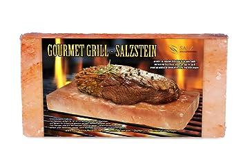 Weber Elektrogrill Lammlachse : Gourmet grill salzstein 20 x 10 x 5 cm von salz einkaufsparadies