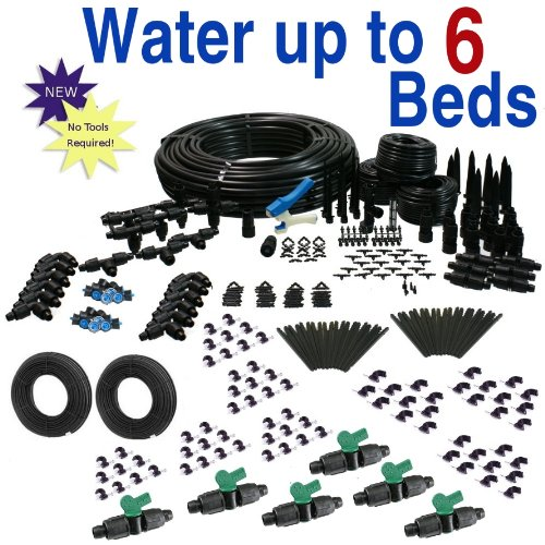 Deluxe Drip Irrigation Kit for Raised Bed Gardening by Drip Depot