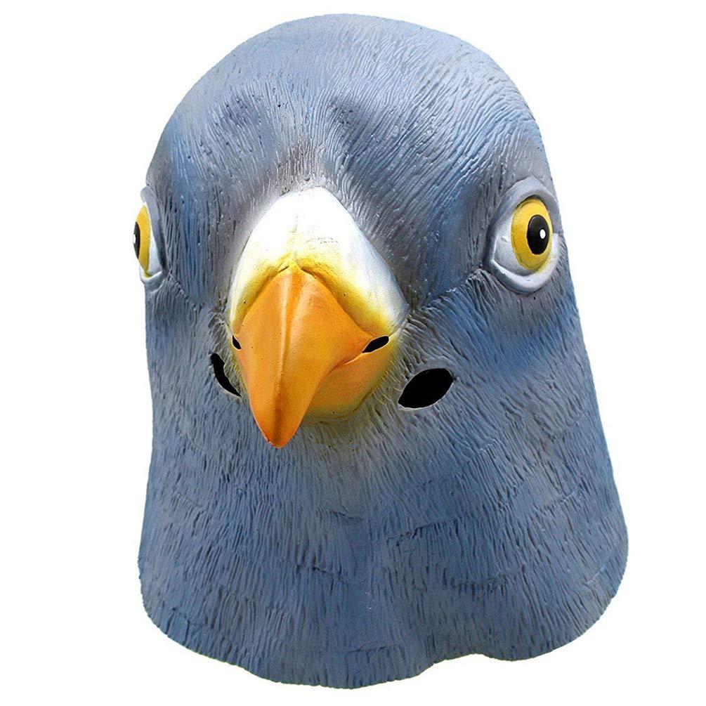 Pensenion Halloween Costume Party Latex Pigeon Animal Head Mask