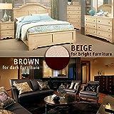 Premium FELT PADS - Ultra LARGE PACK 226 pcs - 2 COLORS! Best Felt Furniture Pads for hardwood floors & Vinyl & Laminate - chair leg floor protectors BONUS: 24 Furniture BUMPERS PADS + 2 FELT SHEETS