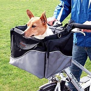 WANGADO Robusta e resistente cesta da bici e sportain nylon 2 in 1 L 41 x P 26 x H 26 cm tasche laterali richiudibili e tracolla regolabile. Carico massimo: 7 kg. 2 spesavip
