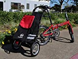 ZiZZO Compact Folding Cargo Bike Trailer with a