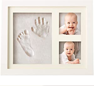 Baby Handprint and Footprint Makers Kit Keepsake For Newborn Boys & Girls, Baby Girl Gifts & Baby Boy Gifts, Personalized Baby Shower Gifts, Memory Art Picture Frames for Baby Registry, Nursery Decor