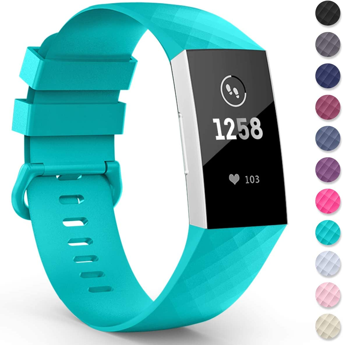2x Sportarmband für Fitbit Charge 3 4 Fitnesstracker Smartwatch Sport Armband