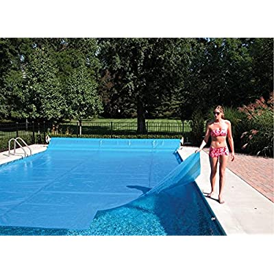 Sun2Solar Blue 20-Foot-by-40-Foot Rectangle Solar Cover Heating Blanket | 1200 Series with 6-Pack of Grommets Bundle | For In-Ground and Above-Ground Rectangular Swimming Pool | Place Bubble-Side Down : Garden & Outdoor