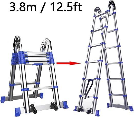 Escalera extensible/ Escalera telescópica Escalera telescópica Escaleras multifunción 12 pasos Plegable, expandible, plegable Fácil de llevar alto para constructores de bricolaje para interiores, inte: Amazon.es: Hogar