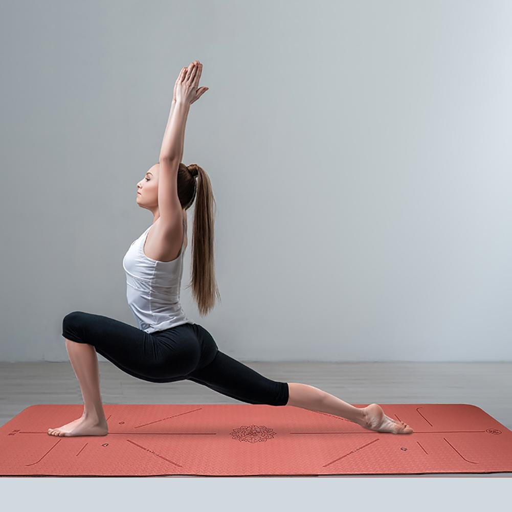 Lmzyan Anfänger 6mm Double-Farbe TPE Indoor und Outdoor Fitness Übung Yoga Matte 183  62cm