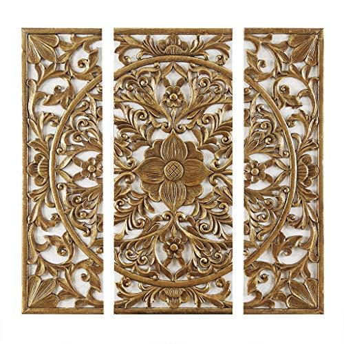 ce Canvas Set Medallion 3D Design Gold See Below ()