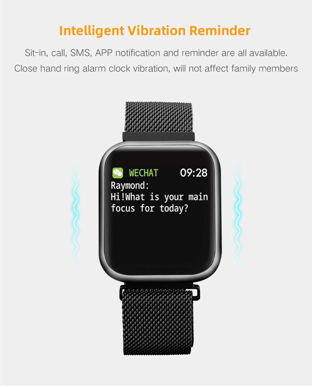 Amazon.com: P80 Smart Watch Bracelet with Blood Pressure ...