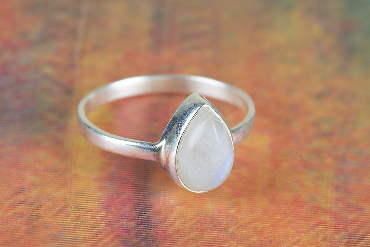 Dainty Ring June Birthstone Worry Ring Anxiety Ring Moonstone Ring Moonstone Jewelry Handmade Ring Women Ring Sterling Silver Ring