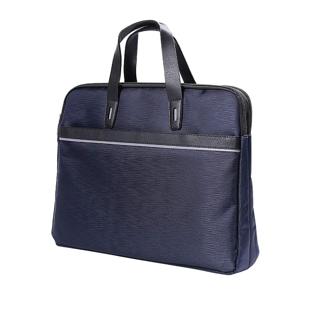 Color : Black Simple and Fashionable Oxford Cloth Portable documents Bag Computer Bag Zipper Information Bag Multi-Layer Briefcase Portable Business Paper Bag
