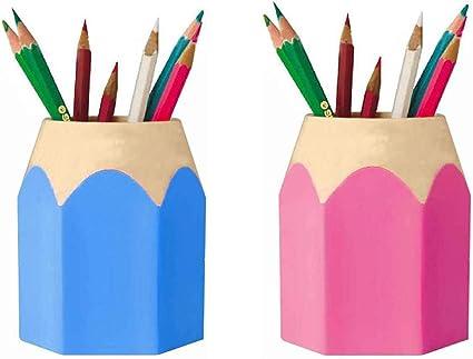 Organizador de Escritorio, Lapiceros para Escritorio, Titular de la Pluma, Portalápices, Plástico Extraíble Portalápices para Estudiantes, Creativo, Colorido, Suministros de Oficina y Escuela: Amazon.es: Oficina y papelería