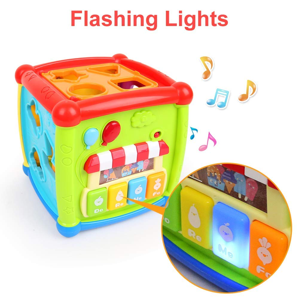 Activity Cube Baby Toy Shape Sorter Early Learning Educational Kid Toy Non BPA !