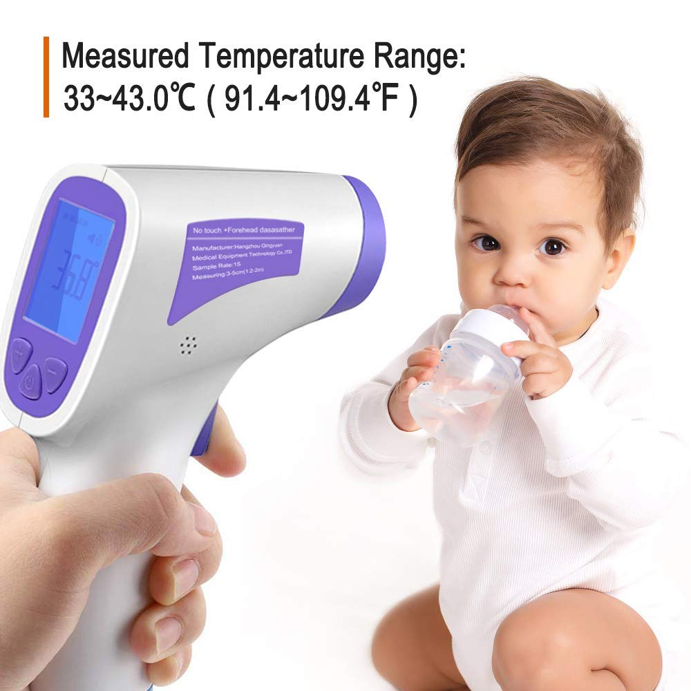 Digital Thermometer Have CE and FDA Approved Non Contact Digital Thermometer for Baby and Adults Infrared Thermometer Forehead Thermometer with Digital LCD Display