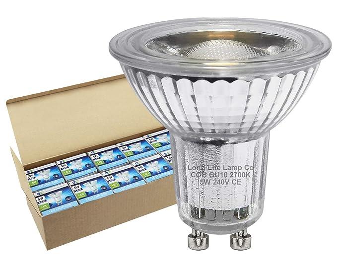10 unidades GU10 LED Bombilla 5 W Bombilla LED foco de pinchos para mazorcas de