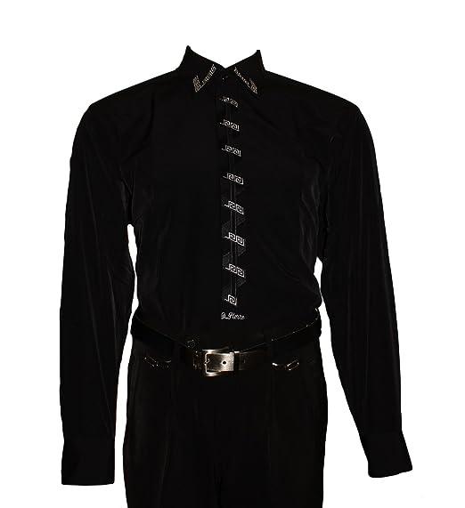 Designer Herren Hemd Bügelfrei mit Stick new Kent Kragen Herrenhemd  Kentkragen viele Farben Langarm  Amazon.de  Bekleidung a6488dfa0b