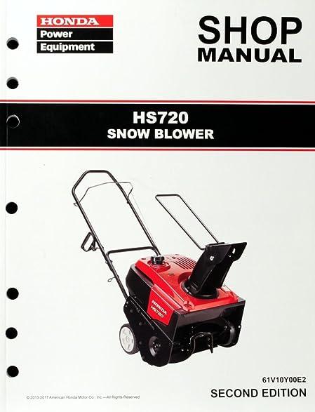 amazon com honda hs720 snow blow throw service repair shop manual rh amazon com honda 1132 snowblower repair manual honda snowblower repair manual.pdf