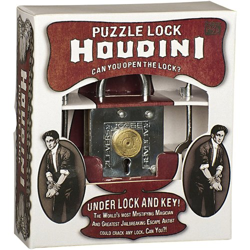 Houdini Under Lock - Metal Trick Lock Puzzle Brain Teaser (Magic Lock)