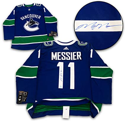 d596a2696ba Mark Messier Vancouver Canucks Autographed Adidas Authentic Hockey Jersey  at Amazon's Sports Collectibles Store