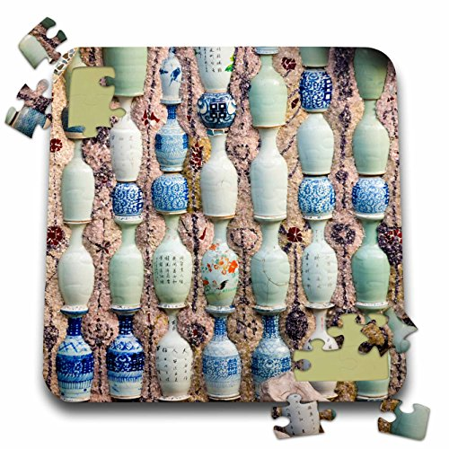 Danita Delimont - Patterns - Chinaware jugs adorn the Porcelain House, Tianjin, China - 10x10 Inch Puzzle (pzl_276759_2)
