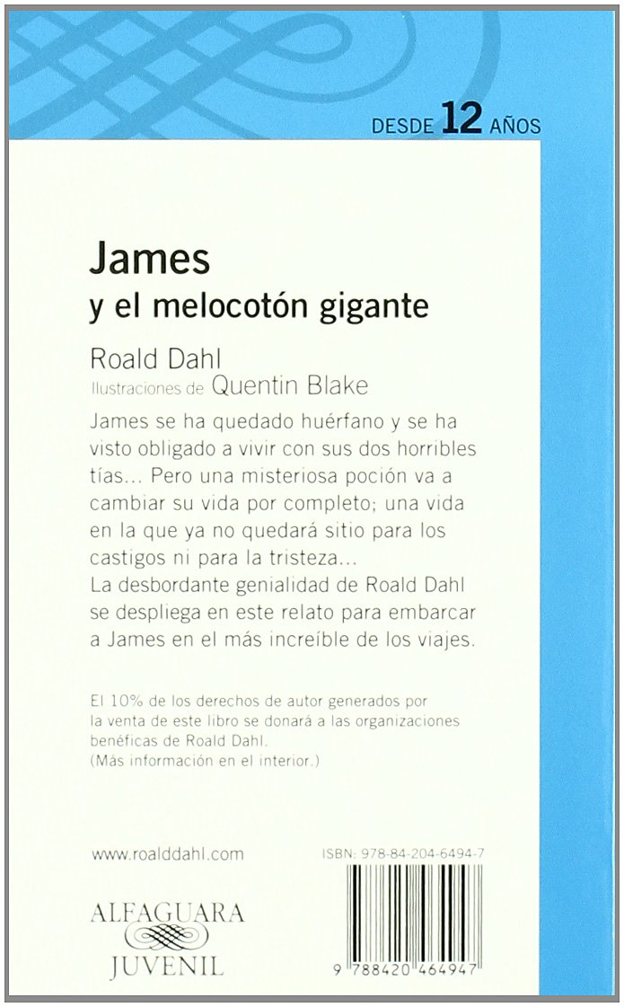 JAMES Y EL MELOCOTON GIGANTE: Roald Dahl: 9788420464947: Amazon.com: Books