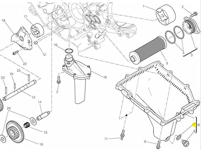 Amazon Com Ducati Oem Replacement Oil Drain Plug Gasket 85250541a