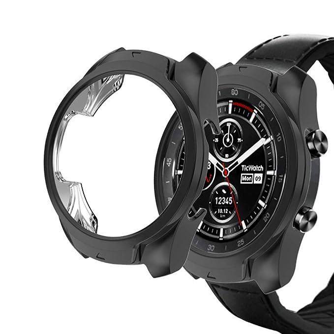 KTcos Compatible con Ticwatch Pro Funda, Slim Fit Funda Protectora ...