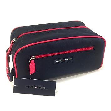 6dc2f87a728 NEW Genuine TOMMY HILFIGER Mens Canvas Wash Bag Toiletry Bag Travel Gym -  41HP21X003 NAVY