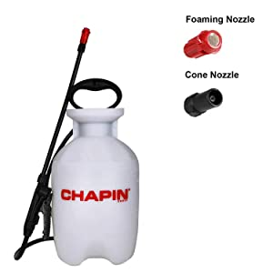 Chapin International 20541 Chapin 1-Gallon Sprayer with Foaming and Adjustable Cone Nozzles, Translucent