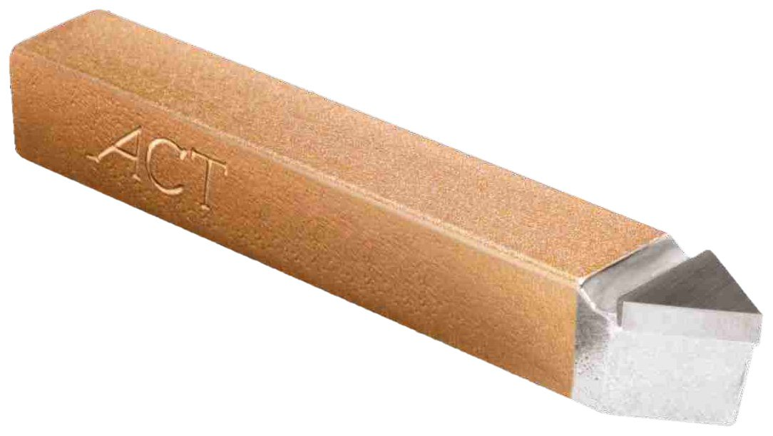American Carbide Tool Carbide-Tipped Tool Bit for Threading, Neutral, C5 Grade, 0.375'' Square Shank, E 6 Size