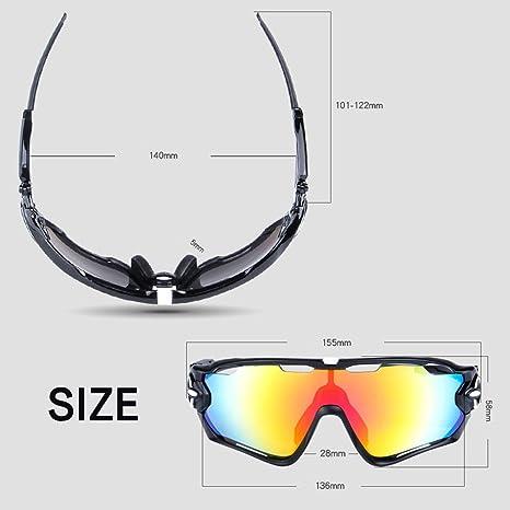 OPEL-R Équitation en plein air polarisé Beach de matière loisir lunettes de soleil/lunettes de sport Lunettes/PC, contient cinq variétés de lentilles décorative , 7subsection