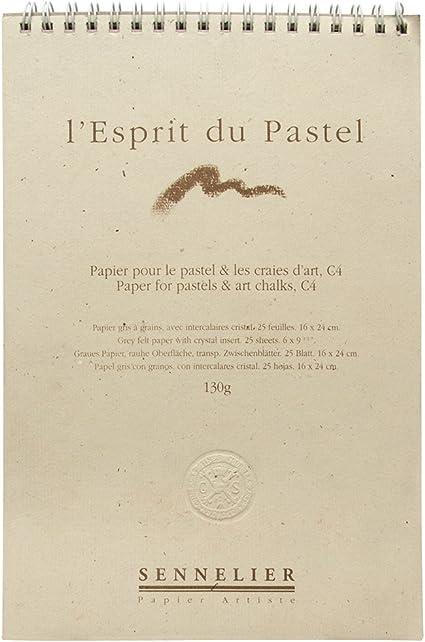 Sennelier Tarjeta de Pastel 16 x 24 cm 12 Hojas 6 Colores x 2