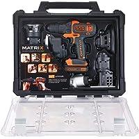 BLACK+DECKER Jogo de Ferramentas Combinadas MATRIX 20V MAX* Ion-Litio com 6 Cabeçotes BDCDM6KITC