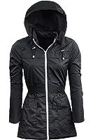 Ladies Rain Mac Fishtail Festival Womens Raincoat Parka Plain Showerproof Jacket 8 10 12 14 16 18 20 22 24