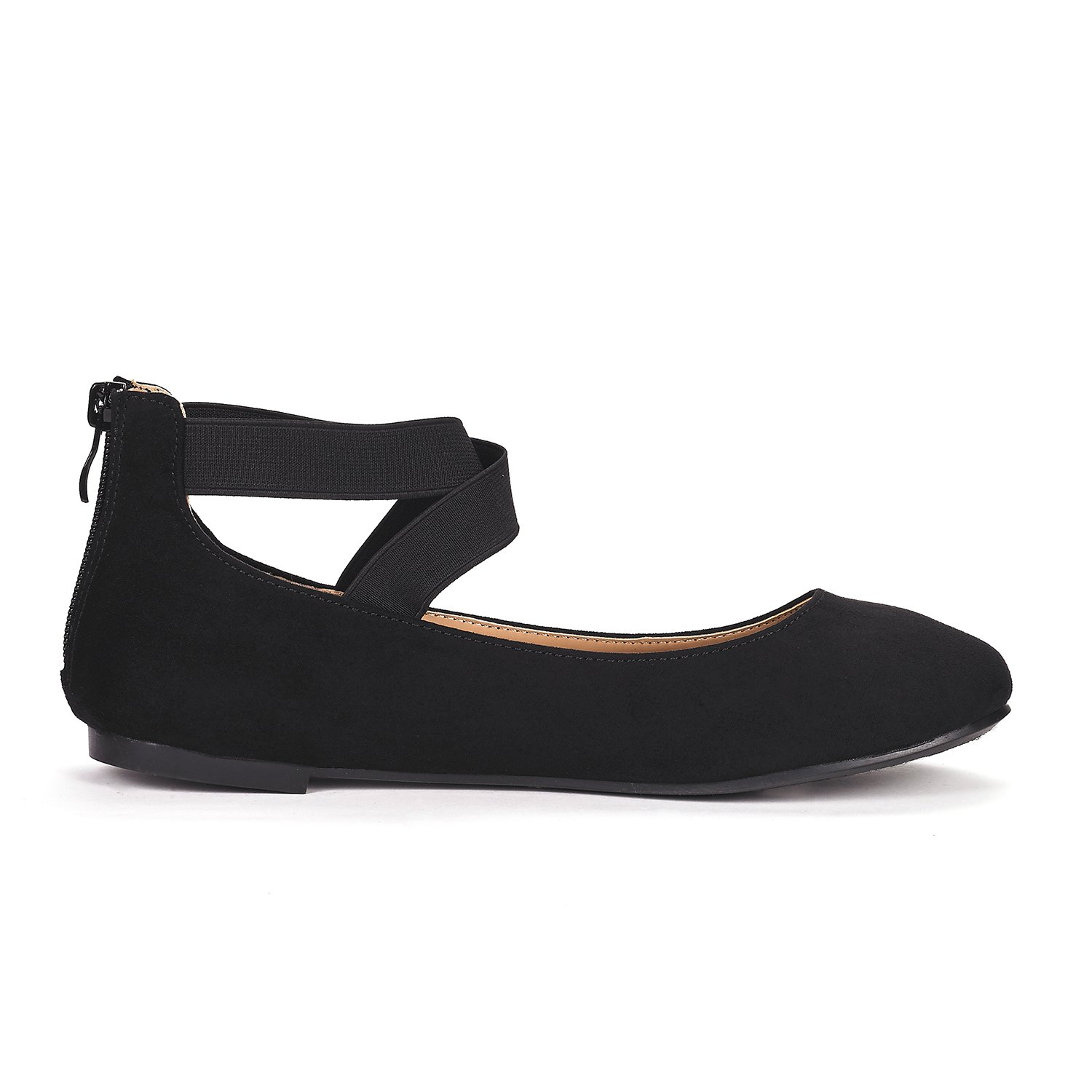 DREAM PAIRS Women's Sole_Stretchy Black Fashion Elastic Ankle Straps Flats Shoes Size 9 M US by DREAM PAIRS (Image #3)